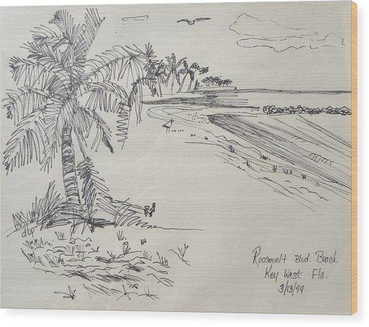 Roosevelt Blvd Beach  Key West Fla Wood Print