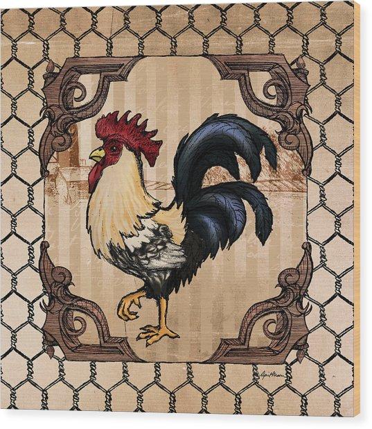 Rooster II Wood Print