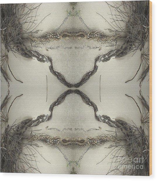 Roots Four Wood Print by Carina Kivisto