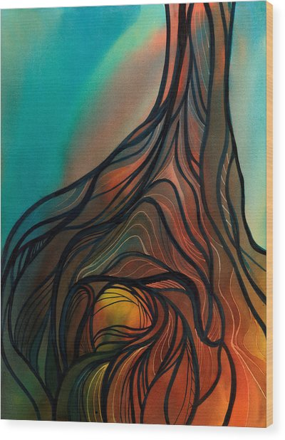Roots Of Tree By Clark Lake Wood Print
