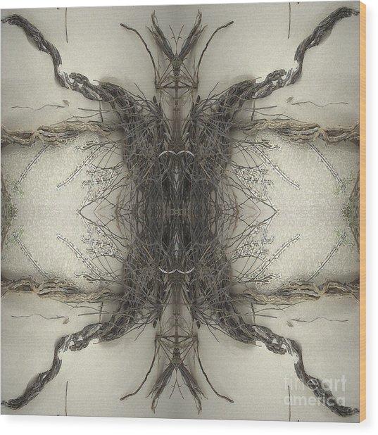 Roots Two Wood Print by Carina Kivisto