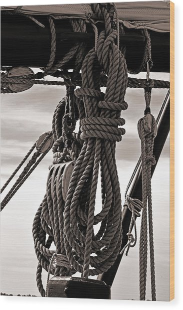 Rope Work Wood Print