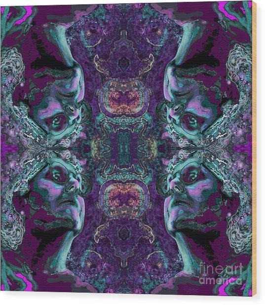 Rorschach Me Wood Print