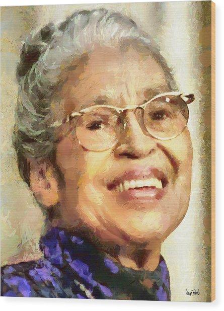 Rosa Parks Wood Print