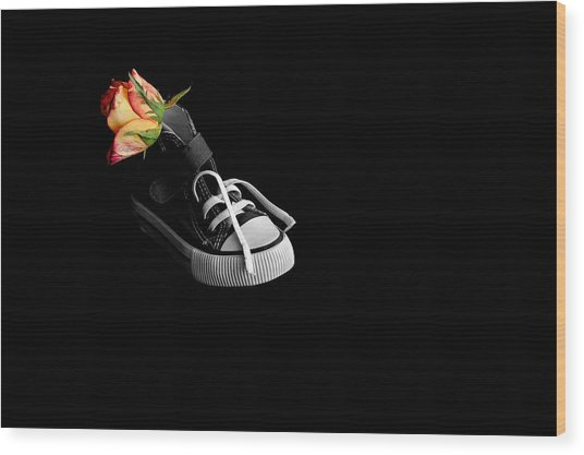 Rose And Shoe Wood Print
