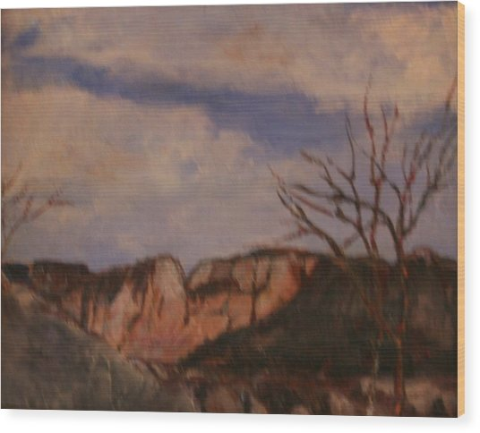 Rose Cliff Wood Print