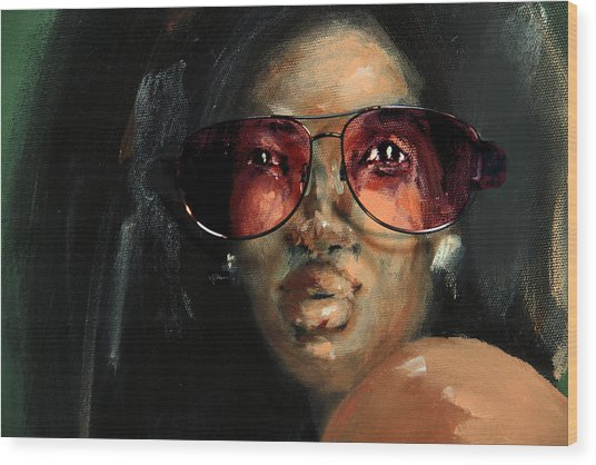 Rose Colored Glasses Wood Print
