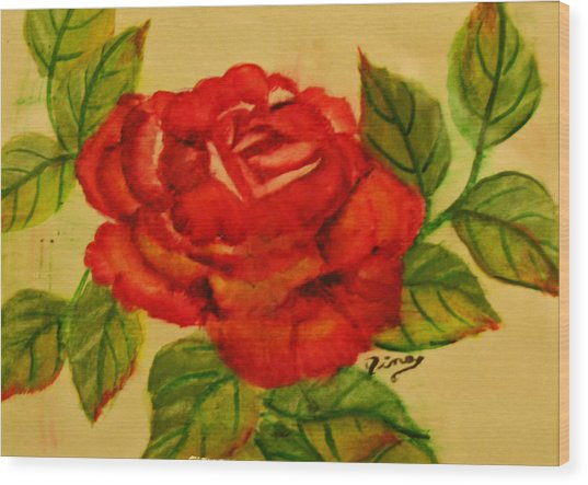 Rose Wood Print by Dina Jacobs