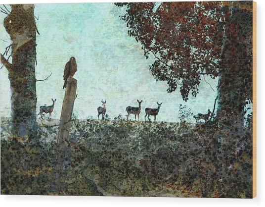 Rose Hill - Autumn Wood Print