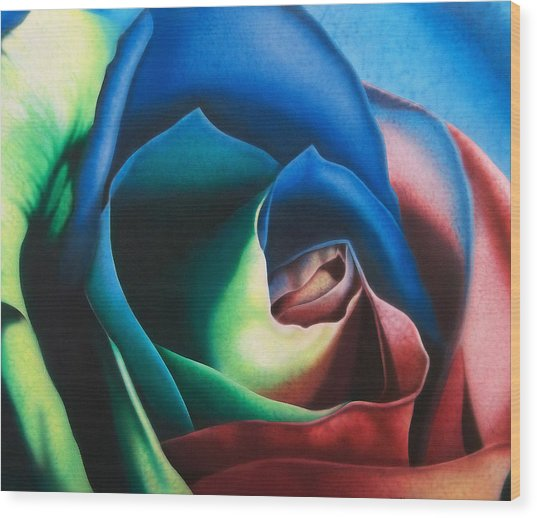 Rose Hybrid Wood Print by Michael Wicksted
