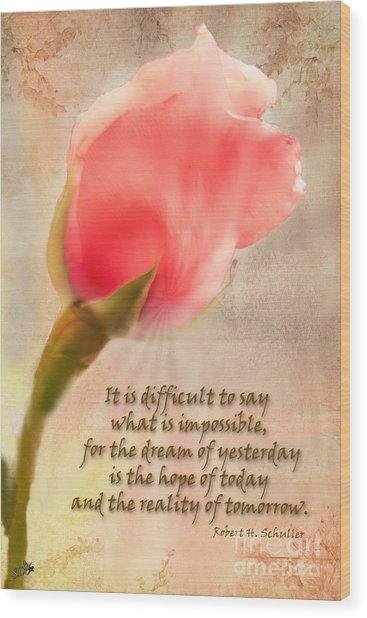 Rose Of Hope Wood Print