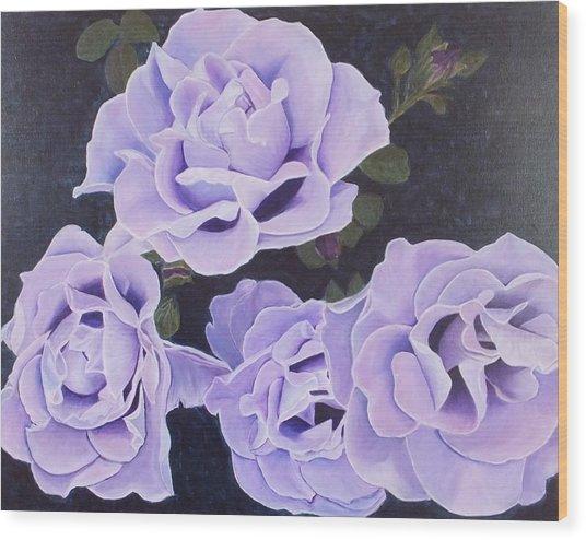 Rose Ripples Wood Print by Vicki Watson