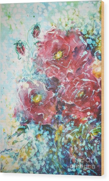 Rose Summer Delight Wood Print