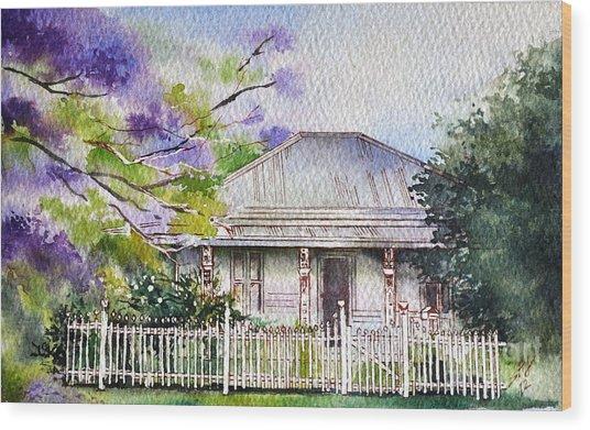 Roseabellas House Bellingen Wood Print