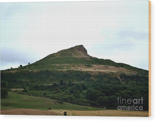 Roseberry Topping Hill Wood Print