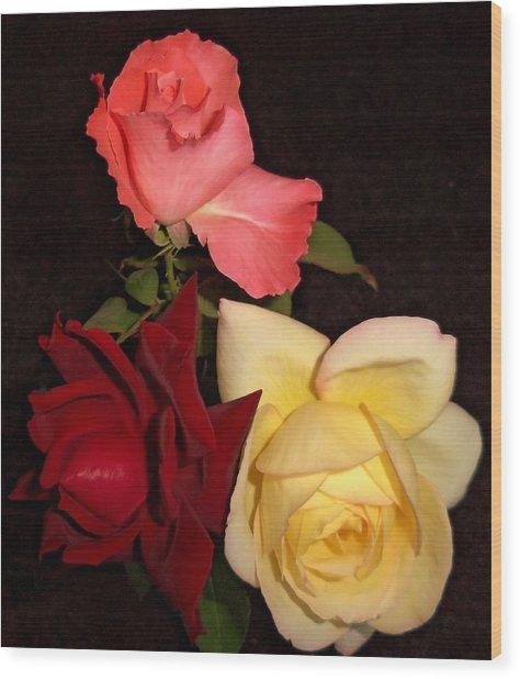 Roses 1 Wood Print