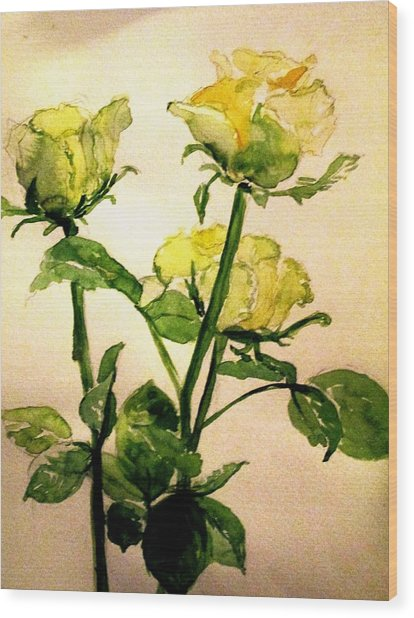 Gardens By Maria: Roses From The Garden Painting By Maria Mimi