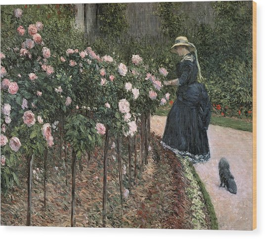 Roses In The Garden At Petit Gennevilliers Wood Print