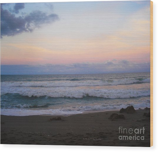 Ross Witham Beach No2 Wood Print