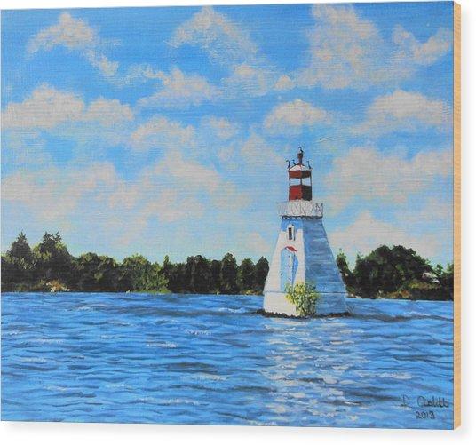 Rosseau Lighthouse Wood Print
