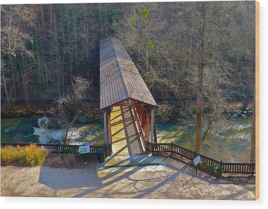 Roswell Covered Bridge Wood Print