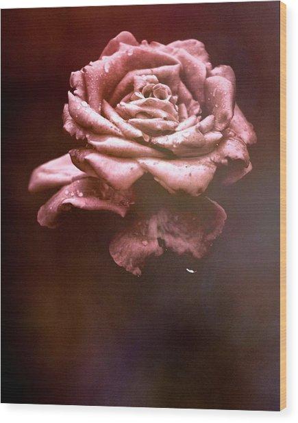 Rosy Fog Wood Print