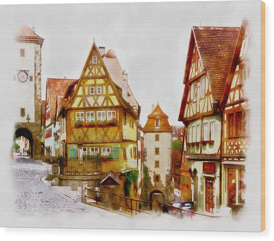 Rothenburg Wood Print