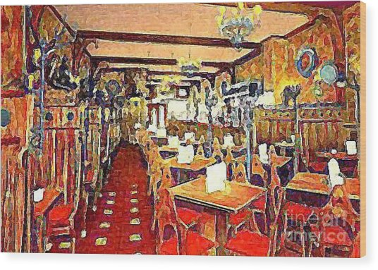 Roth's Grill And Restaurant In New York City Around 1930 Wood Print by Dwight Goss