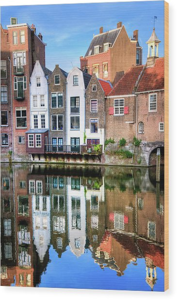Rotterdams Delfshaven With His Historic Wood Print