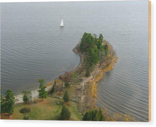 Round The Point  Pinheys Point Ontario Wood Print