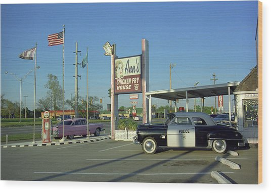 Route 66 - Anns Chicken Fry House Wood Print