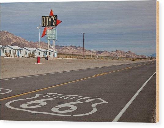 Route 66 At Amboy Wood Print