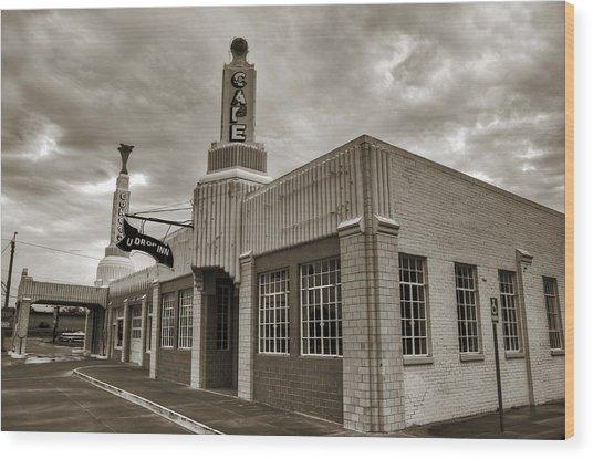 Route 66 Conoco Wood Print