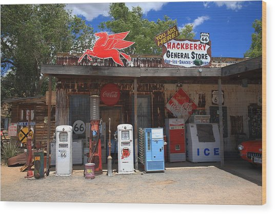 Route 66 - Hackberry General Store Wood Print