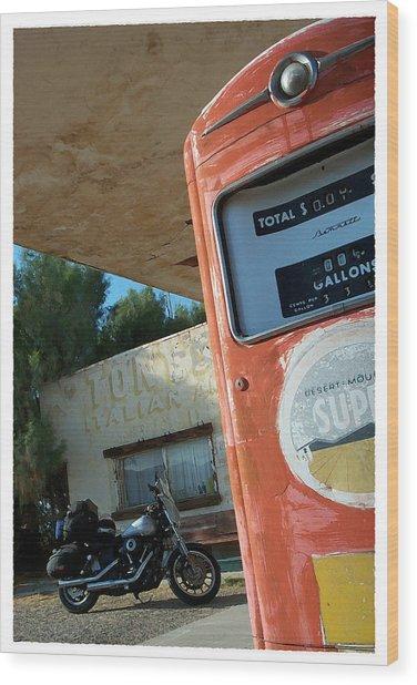 Route 66 Harley Wood Print
