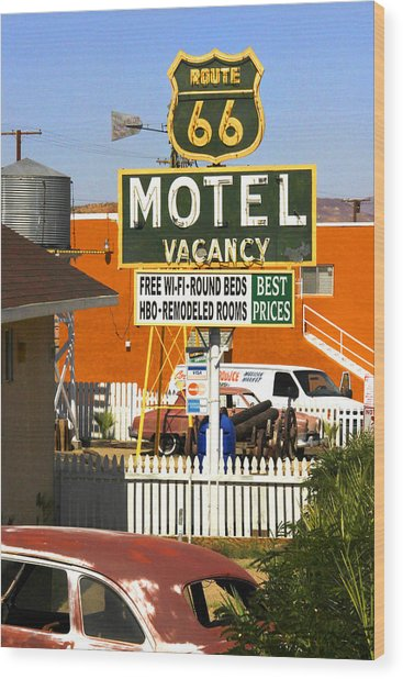 Route 66 Motel - Barstow Wood Print