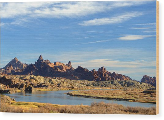 Route 66 Needles Mtn Range 2      Sold Wood Print
