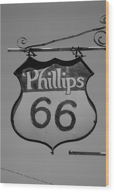 Route 66 - Phillips 66 Petroleum Wood Print