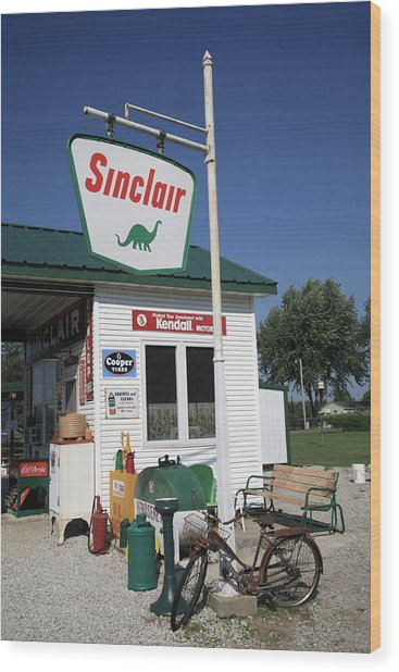 Route 66 - Sinclair Station Wood Print