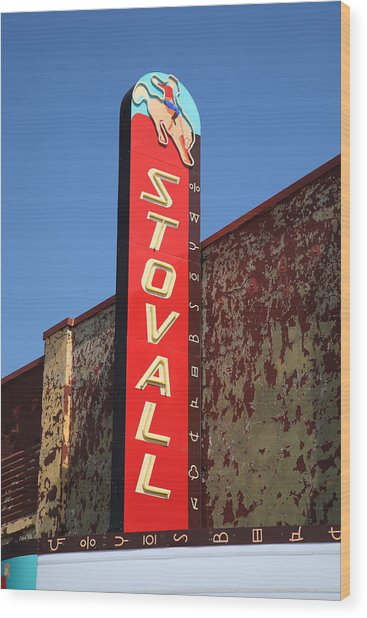 Route 66 - Stovall Theater Wood Print