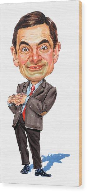 Rowan Atkinson As Mr. Bean Wood Print by Art