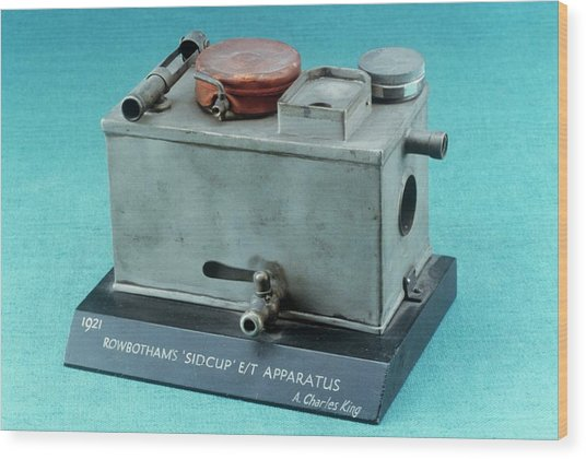 Rowbotham Endotracheal Apparatus Wood Print