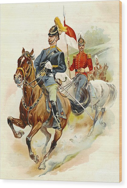 Roxbury Horse Guards 1895 Wood Print