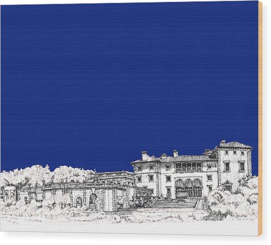 Royal Blue Vizcaya In Miami Wood Print by Building  Art