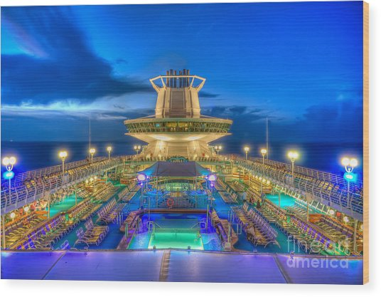 Royal Carribean Cruise Ship  Wood Print