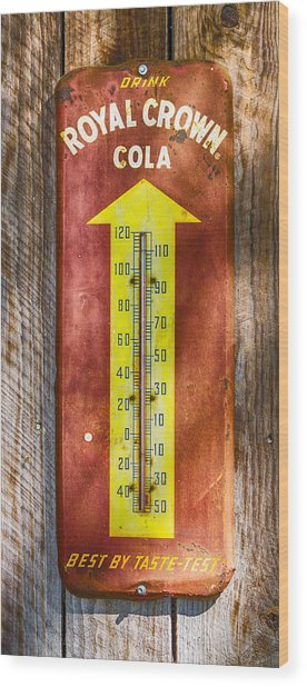 Royal Crown Barn Thermometer Wood Print