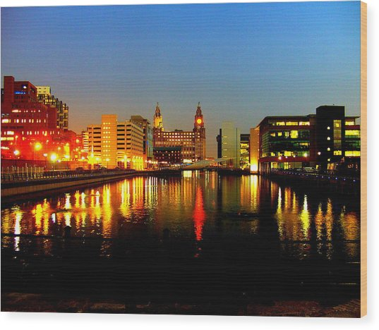 Royal Liver Building Liverpool  Wood Print