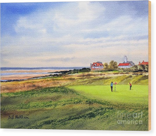 Royal Liverpool Golf Course Hoylake Wood Print