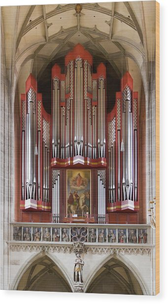 Royal Red King Of Instruments Wood Print