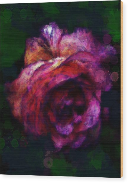 Royal Rose Painted Wood Print